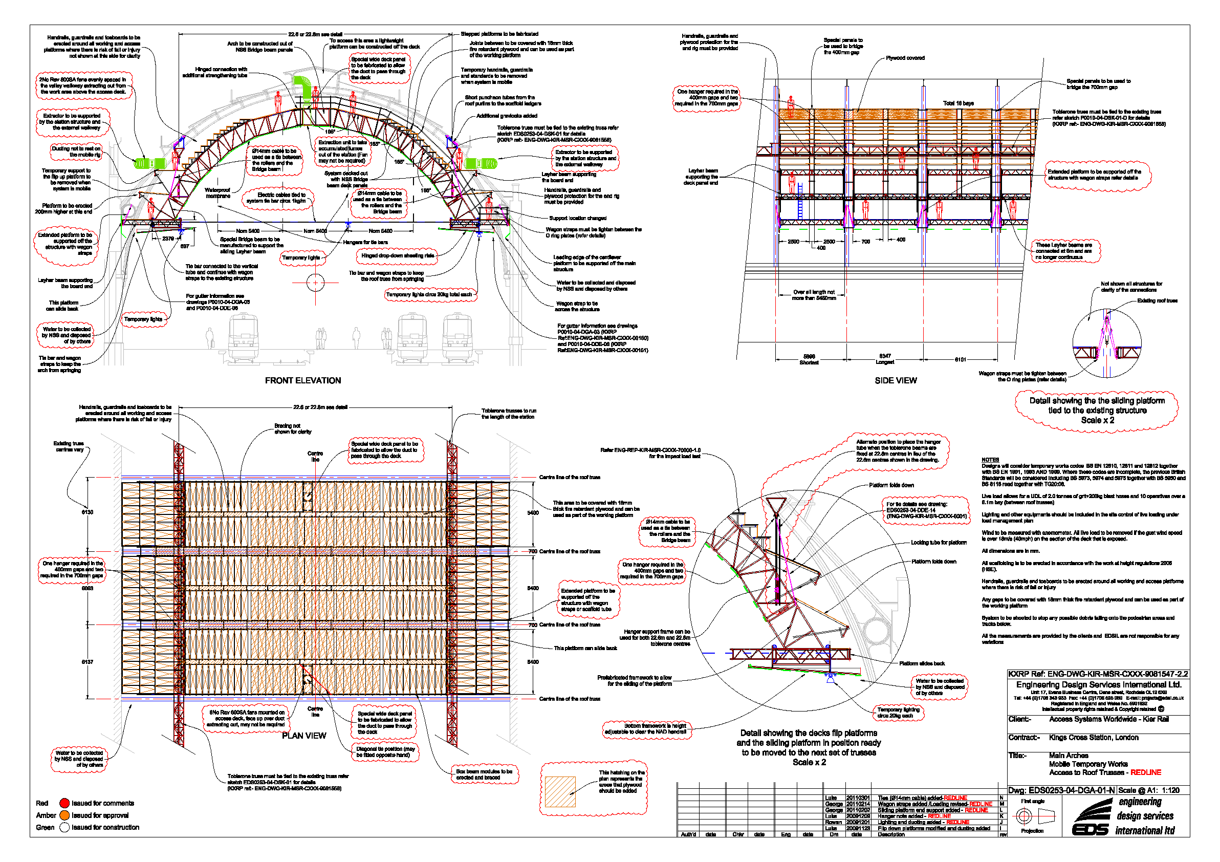Long Span Scaffolding : London king s cross station