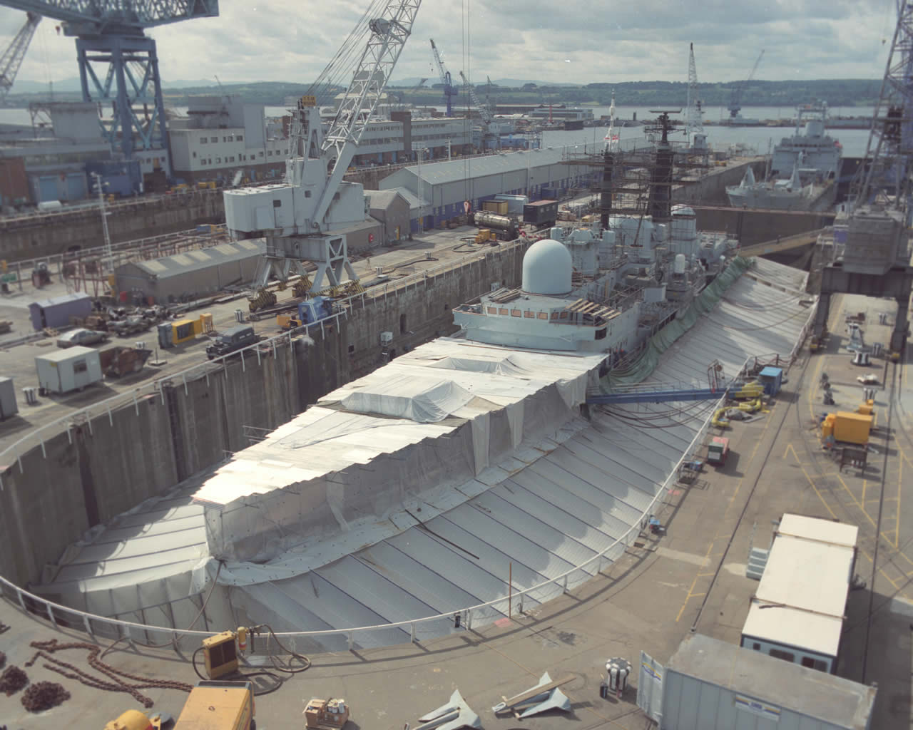 Naval Dockyard Rosyth Scotland